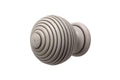 Hallis Hudson Modern Country Ribbed Ball Finials (5 Colours) - Curtain Poles Emporium