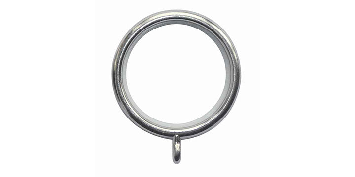 Hallis Neo Original Stainless Steel 19mm Curtain Pole Rings - Curtain Poles Emporium