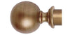 Hallis Museum 35mm Red and Gold Curtain Pole Ball Finial - Curtain Poles Emporium