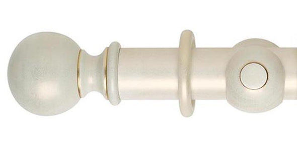 Hallis Museum 55mm Pole in Cream & Gold Wash Ball Finial