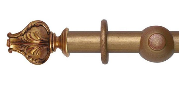 Hallis Museum 35mm Red and Gold Curtain Pole Vienna Finial