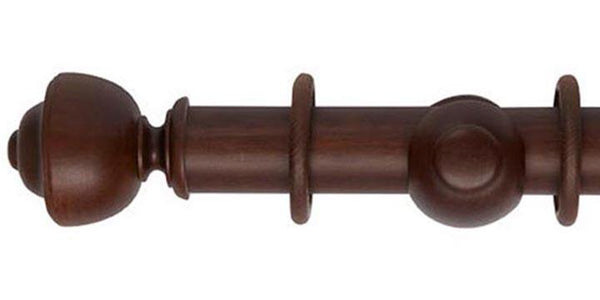 Hallis Museum 45mm Curtain Pole Satin Chestnut Asher Finial