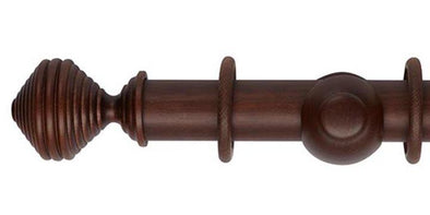 Hallis Museum 45mm Curtain Pole Satin Chestnut Dune Finial