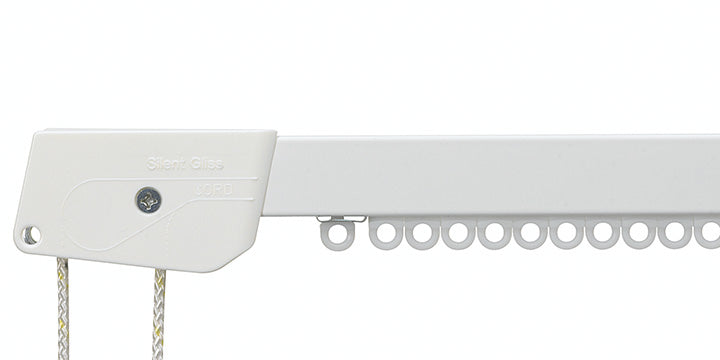 Silent Gliss 3000 White Corded Curtain Track