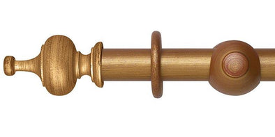 Hallis Museum 35mm Red and Gold Curtain Pole Boudoir Finial - Curtain Poles Emporium