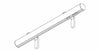 Silent Gliss Metropole 30mm Chrome hand drawn track with Ball Finial - Curtain Poles Emporium