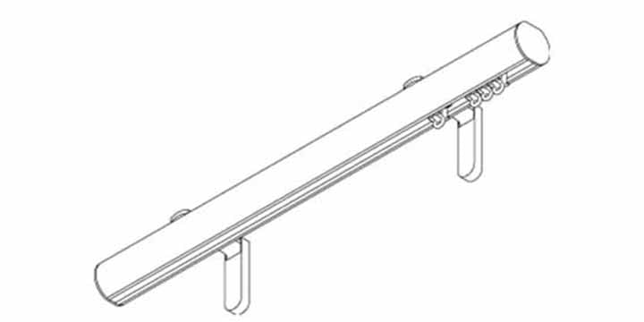 Silent Gliss Metropole 30mm Black Hand Drawn Track With