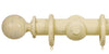 Opus Studio Distressed Cream 48mm Wooden Curtain Pole Ball Finial