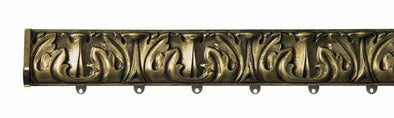 Byron and Byron Baroque Antique Gilt 75mm Polmet with End Caps and Brackets - Curtain Poles Emporium