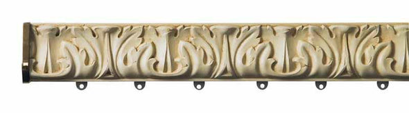 Byron and Byron Baroque Antique Cream 75mm Polmet with End Caps and Brackets - Curtain Poles Emporium