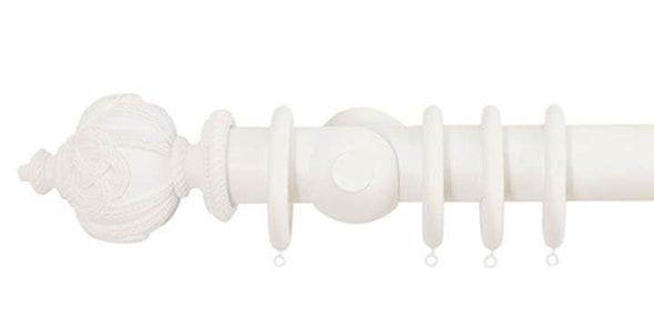 Jones Florentine 50mm Cotton Curtain Pole Rope Finial-Curtain Poles Emporium