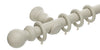 Hallis Honister 35mm Stone Wooden Curtain Pole - Curtain Poles Emporium