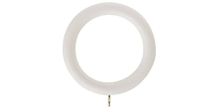 Hallis Honister 50mm Linen White Curtain Pole Rings (Pack 4) - Curtain Poles Emporium