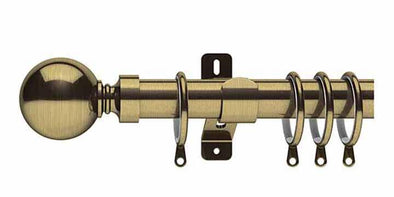 Swish Elements Belgravia 28mm Antique Brass Curtain Pole