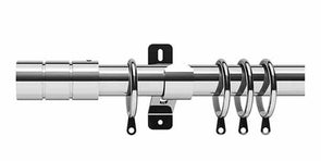 Swish Elements Brooklyn 28mm Chrome Curtain Pole