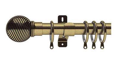 Swish Elements Curzon 35mm Antique Brass Curtain Pole