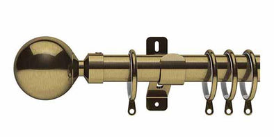 Swish Elements Zorb 28mm Antique Brass Curtain Pole