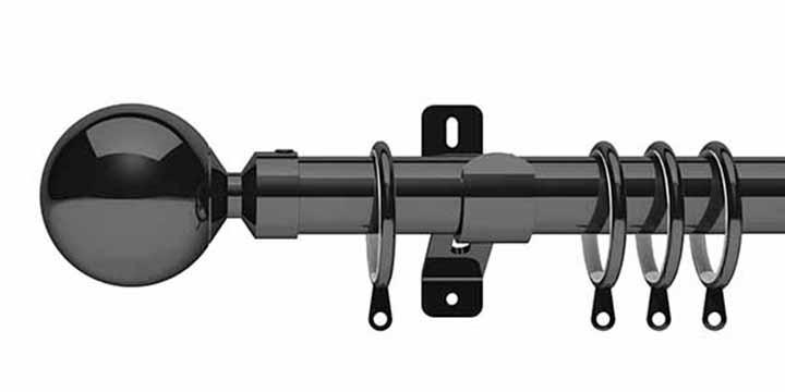 Swish Elements Zorb 28mm Graphite Pole - Curtain Poles Emporium