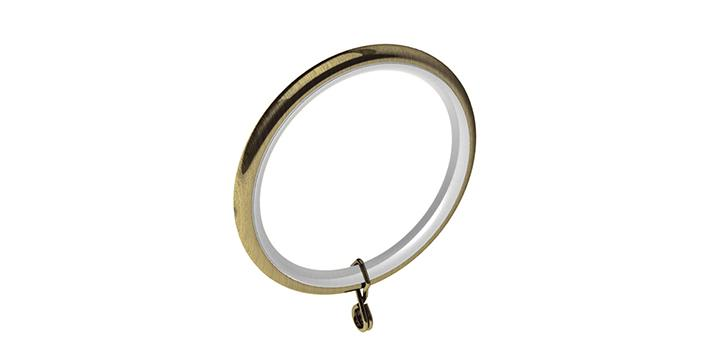 Swish 28mm Antique Brass Curtain Rings Poles Emporium