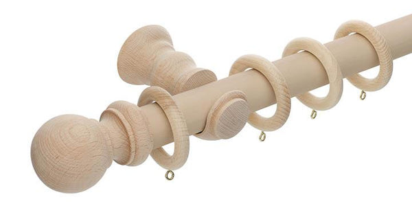 Hallis Unfinished 35mm Wooden Curtain Pole