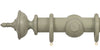 Opus Studio Distressed Sage Grey 48mm Wooden Curtain Pole Urn Finial
