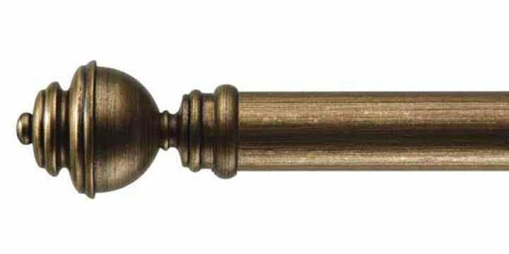 Byron & Byron 33mm Classic Wood Antiquities Gilt Curtain Pole Aercolaneum Finial - Curtain Poles Emporium