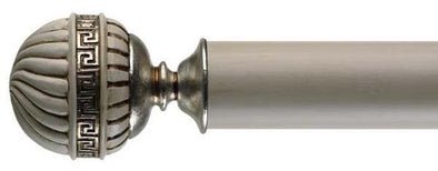 Byron & Byron Antique White & Details 55mm Curtain Pole Olympia Finial - Curtain Poles Emporium