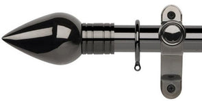 Galleria Metals 35mm Black Nickel Curtain Pole Teardrop Finial - Curtain Poles Emporium