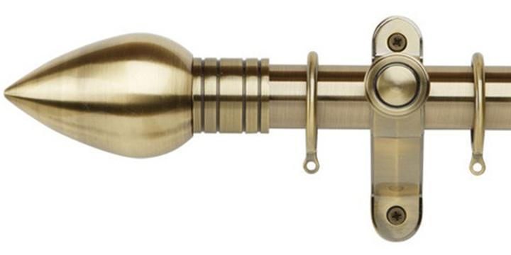Galleria Metals 35mm Burnished Brass Curtain Pole Teardrop Finial - Curtain Poles Emporium