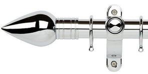 Galleria Metals 35mm Chrome Curtain Pole Teardrop Finial - Curtain Poles Emporium