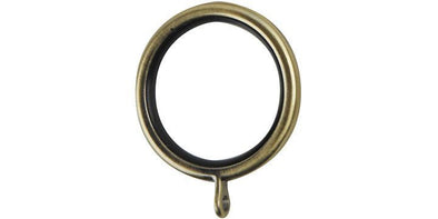 Hallis Galleria 35mm Burnished Brass Curtain Pole Rings (Pack 6) - Curtain Poles Emporium