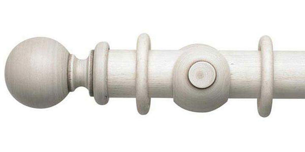 Hallis Modern Country 45mm Brushed Ivory Curtain Pole Ball Finial - Curtain Poles Emporium