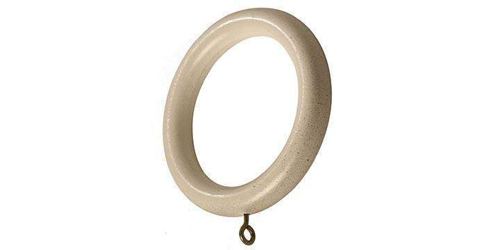 Hallis Modern Country 45mm Spare Rings Brushed Cream - Curtain Poles Emporium