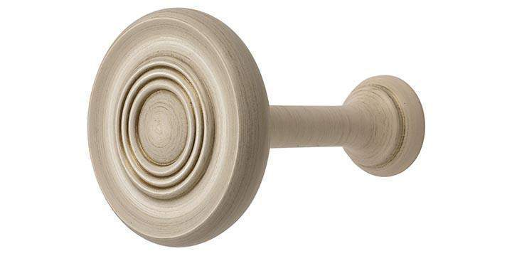 Hallis Modern Country Brushed Cream Wooden Holdback - Curtain Poles Emporium