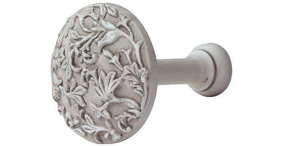 Hallis Modern Country Brushed Ivory Floral Holdback - Curtain Poles Emporium