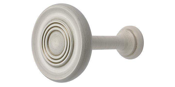 Hallis Modern Country Brushed Ivory Wooden Holdback - Curtain Poles Emporium