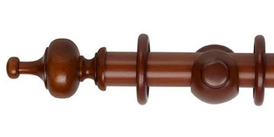 Hallis Museum 35mm Antique Pine Curtain Pole Boudoir Finial - Curtain Poles Emporium