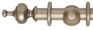 Hallis Museum 35mm Satin Oyster Curtain Pole Boudoir Finial - Curtain Poles Emporium