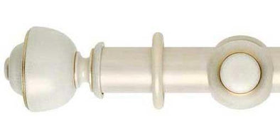 Hallis Museum 45mm Cream Gold Wash Curtain Pole Asher Finial-Curtain Poles Emporium