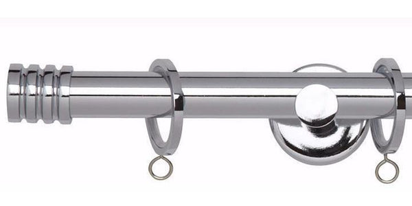 Hallis Neo 19mm Chrome Curtain Pole Stud Finial-Curtain Poles Emporium