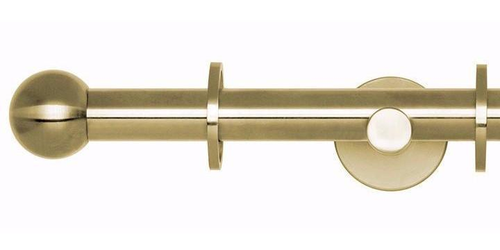 Hallis Neo Original 19mm Spun Brass Curtain Pole Ball Finial - Curtain Poles Emporium