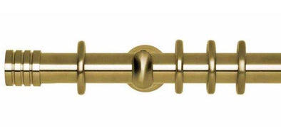 Hallis Neo 28mm Spun Brass Curtain Pole Stud Finial-Curtain Poles Emporium