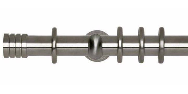 Hallis Neo 28mm Stainless Steel Effect Curtain Pole Stud Finial-Curtain Poles Emporium