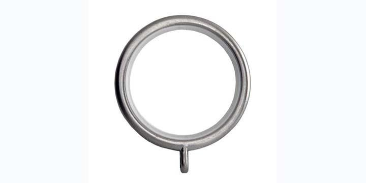 Hallis Neo 28mm Stainless Steel Effect Curtain Pole Rings - Curtain Poles Emporium