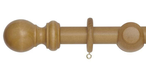 Hallis Woodline 28mm Light Oak Curtain Pole-Curtain Poles Emporium