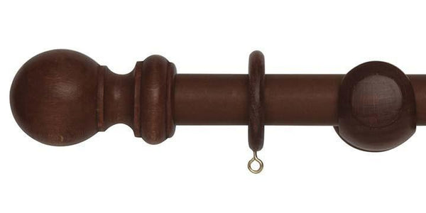 Hallis Woodline 28mm Rosewood Curtain Pole-Curtain Poles Emporium