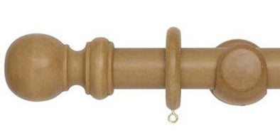 Hallis Woodline 35mm Light Oak Curtain Pole-Curtain Poles Emporium