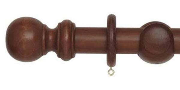 Hallis Woodline 35mm Rosewood Curtain Pole - Curtain Poles Emporium
