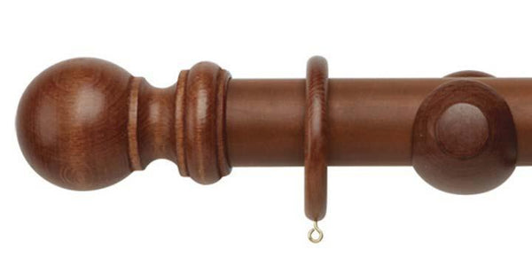 Hallis Woodline 50mm Rosewood Curtain Pole-Curtain Poles Emporium