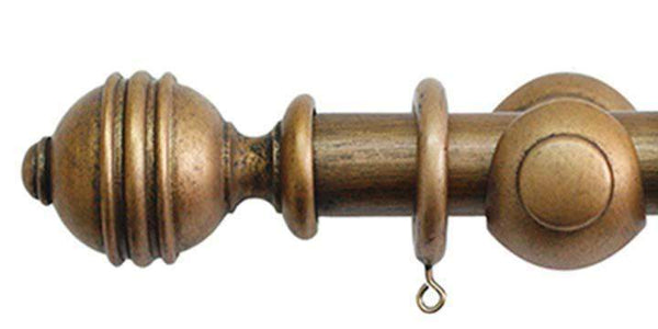 Jones Cathedral 30mm Antique Gold Curtain Pole Ely finial - Curtain Poles Emporium